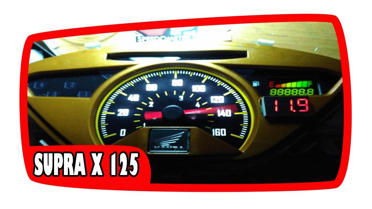 Sdometer Honda Supra X 125 Cooler After Custom on
