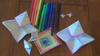 Оригами из бумаги Ворона Origami