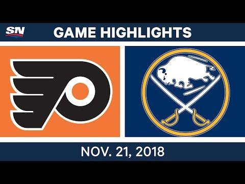NHL Highlights | Flyers vs. Sabres – Nov. 21, 2018