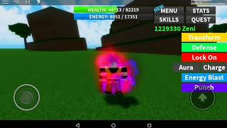 Dragon ball Ultimate Roblox Showcasing all forms