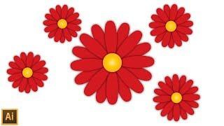 Create Flower in illustrator - Illustrator tutorial
