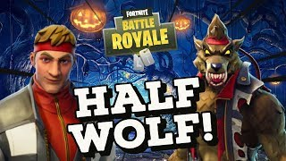 Half Wolf Dire Skin Gameplay! In Fortnite Battle Royale