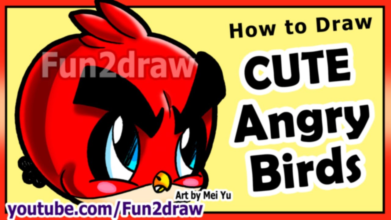 How to Draw Easy Things - Angry Birds - Game Character Art Tutorial ...