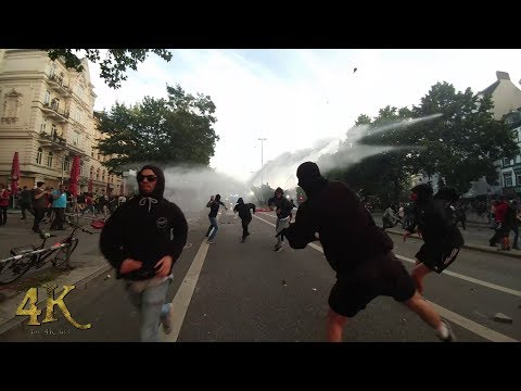 Germany: Violent clashes between cops and rioters at G20 summit 7-7-2017