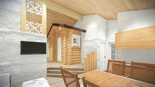 Проект бани из кирпича, бревна и бруса(Проект бани из кирпича, бревна и бруса с бассейном, комнатой отдыха и бильярдом в Новосибирске от архитекту..., 2015-10-15T18:21:56.000Z)