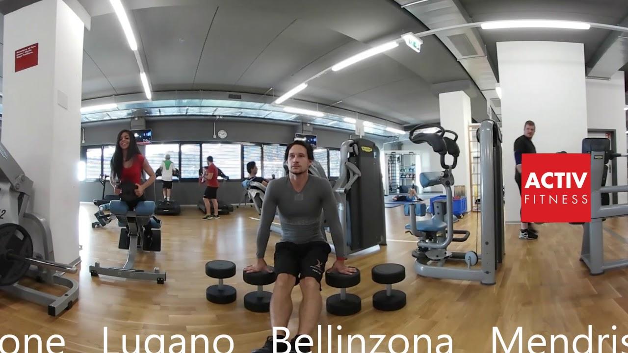Activ Fitness VR 360° Losone - YouTube