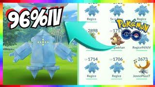 REGICE RAIDS LIVE - 96%IV REGICE CAUGHT in Pokemon Go!