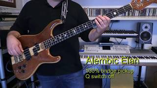 Bass Cover - Duran Duran - Of Crime And Passion - with Alembic Elan bass