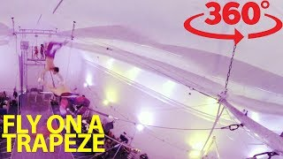Take a swing on the flying trapeze in 360