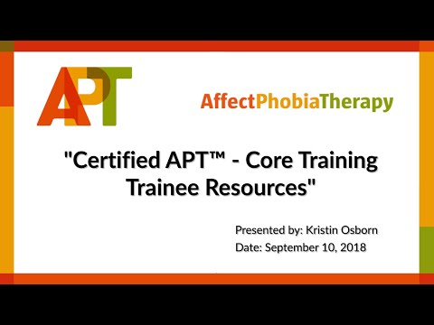 Certified APT™ Core Training (Trainee Resources)