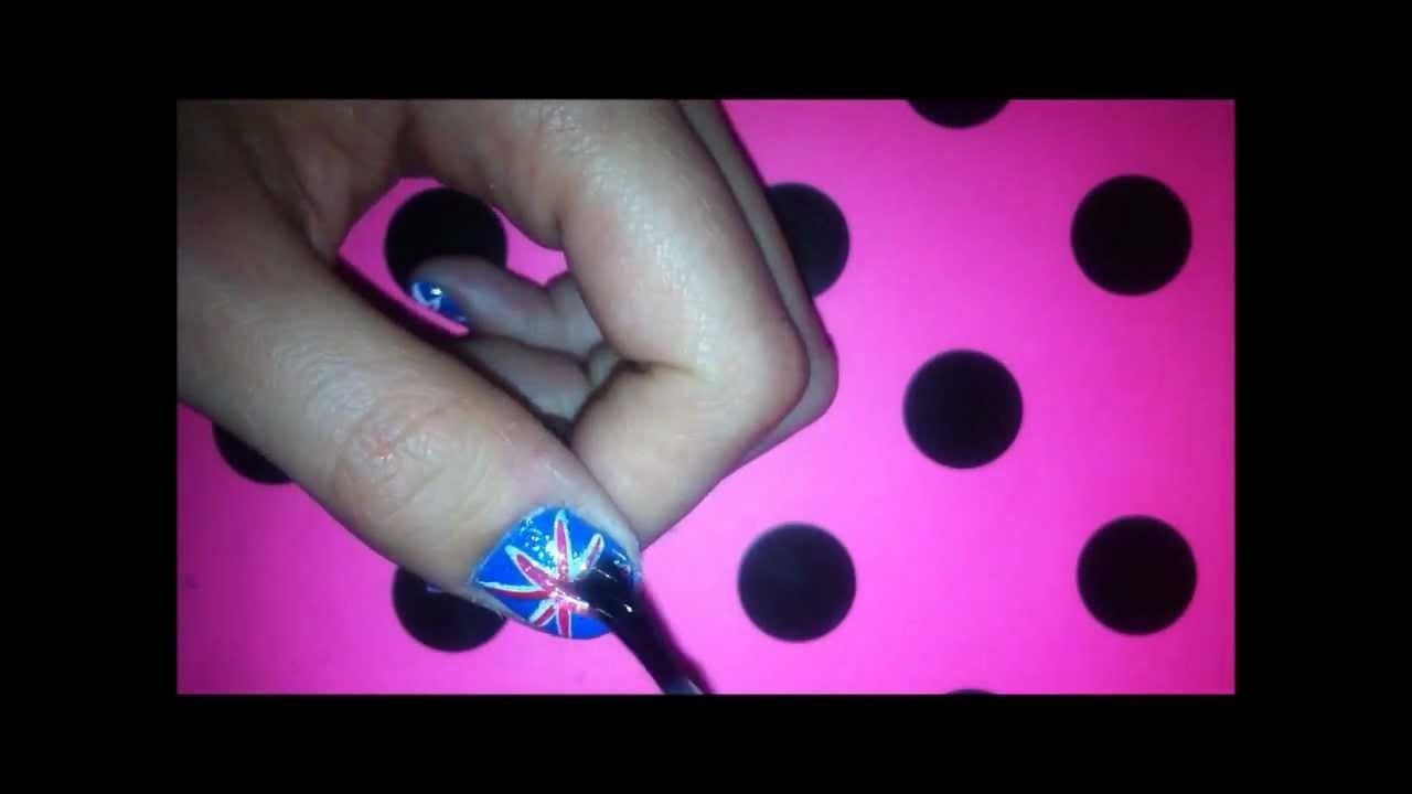 British Flag Nail Design Youtube