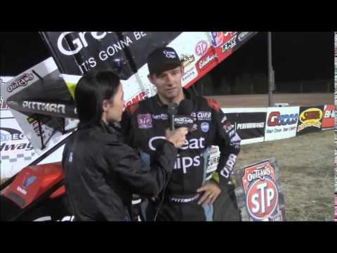 World of Outlaws STP Sprint Car Series Victory Lane from Southern Oregon Speedway