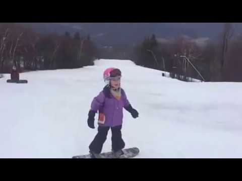 Taylor's First Blue Run with Daddy