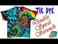 How To Tie Dye:  Double Spiral Scrunch  [Liquid Dye]