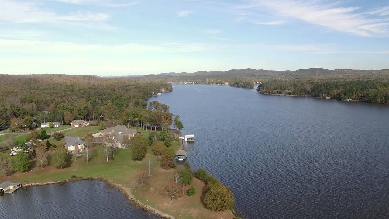 Lake Tillery Aerial Footage Stanly County Youtube