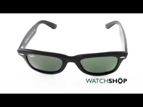 Ray-Ban Original Wayfarer Classic Sunglasses (RB2140-901-50) - YouTube a476c2f8e1