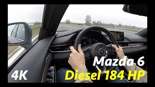 Mazda 6 FL 2019 test drive and acceleration 0 to 100 km/h in 4K