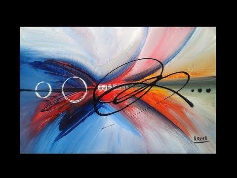 "Abstract Acrylic Painting / Original Art / ""Illusion by Roxer Vidal"""