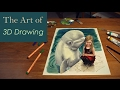 "3D Art / Custom Drawing from photo ""little girl with dolphin"""