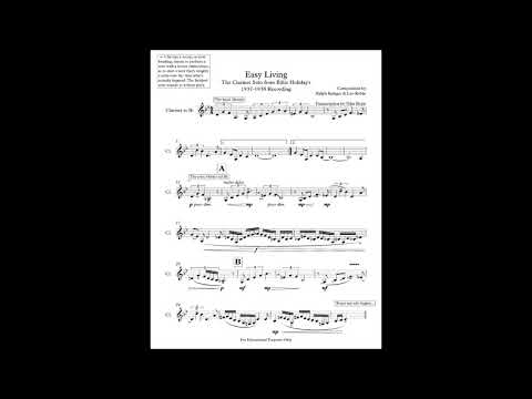 Easy Living - Billie Holiday (Clarinet Solo Transcription)