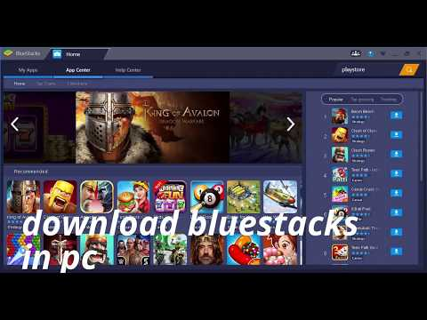bluestacks how to download games on pc  like clash of clans and clash royale