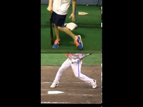 Back knee drive baseball softball swing explanation for loss of power and bat speed