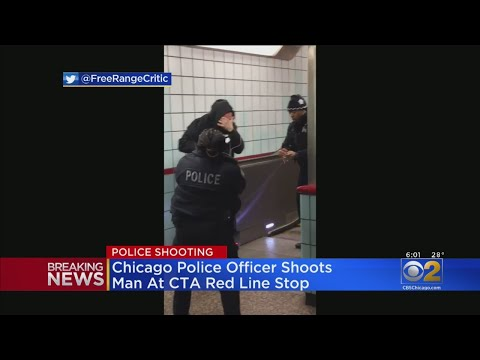 VIdeo Shows Police Struggling With Red Line Suspect Before Shooting