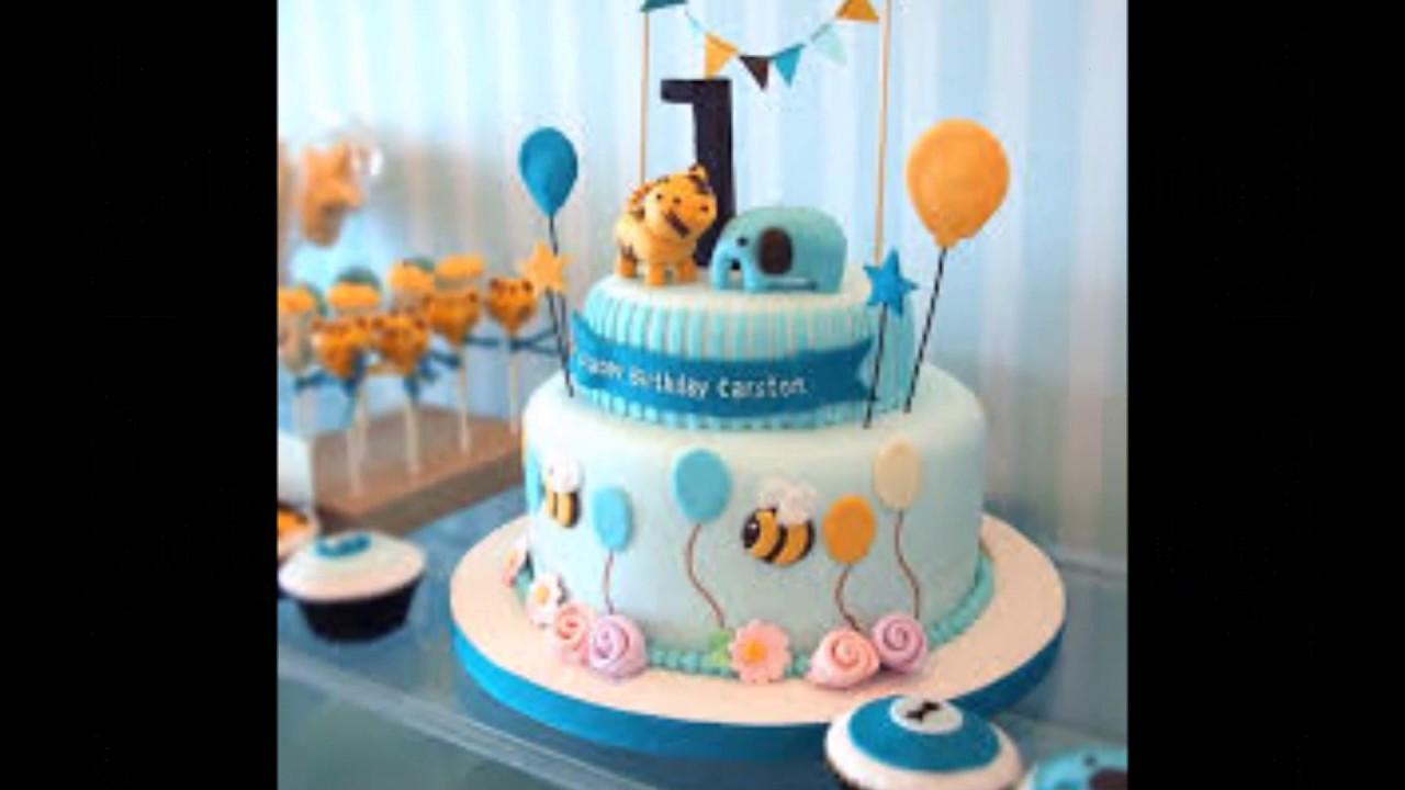 First Birthday Cake Decorating Ideas Boy Elitflat