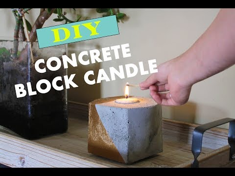 Diy Concrete Block Candle (for under $10)