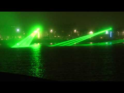 Weymouth Promenade Seafront Lasers Beach Laser Show June 26th