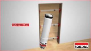 Installing interior door with 1 component PU foam