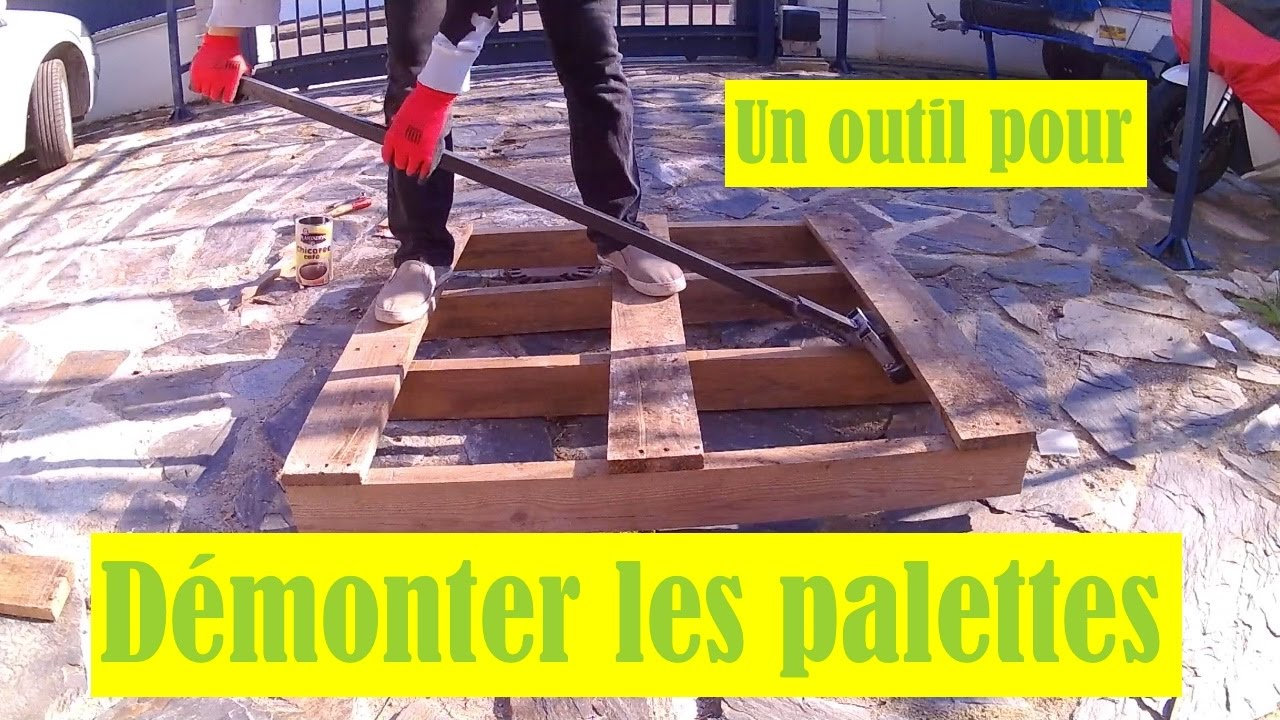 comment faire un outil pour d monter les palettes youtube. Black Bedroom Furniture Sets. Home Design Ideas