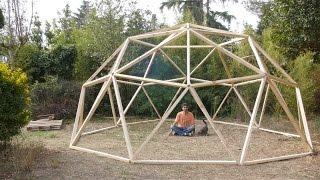 Construcción de un domo geodésico en un fin de semana