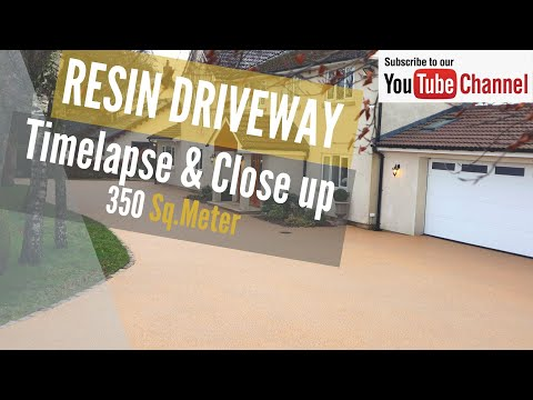 Resin Driveway Installation - Resin Bound Paving Nationwide - Timelaspse And Close Up