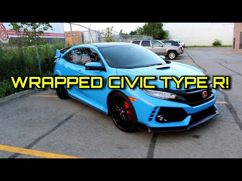 Wrapped Civic Type R Gloss Riviera Blue Youtube