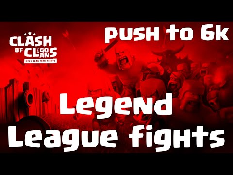 easy legend league triples to push to 6k | 3 Star fights | clash of clans COC 11/19
