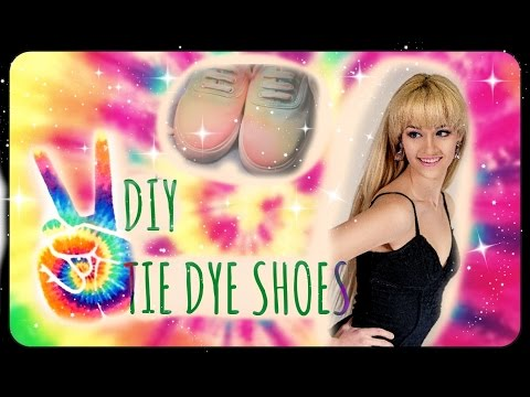 DIY TIE DYE SHOES ✿