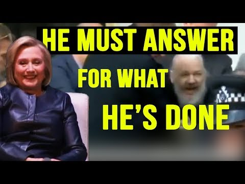 Hillary Clinton On The Capture Of Julian Assange