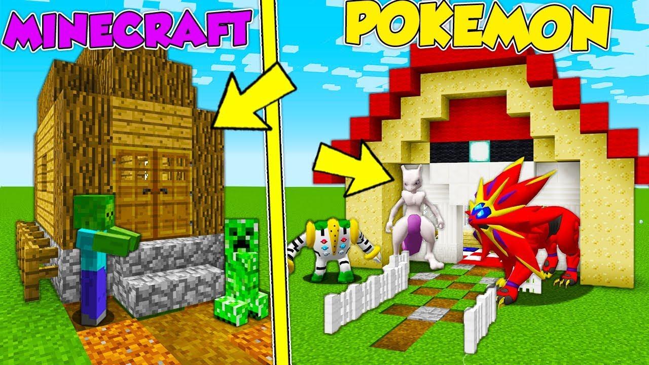Casa di pokemon vs casa di minecraft minecraft ita for Case bellissime minecraft