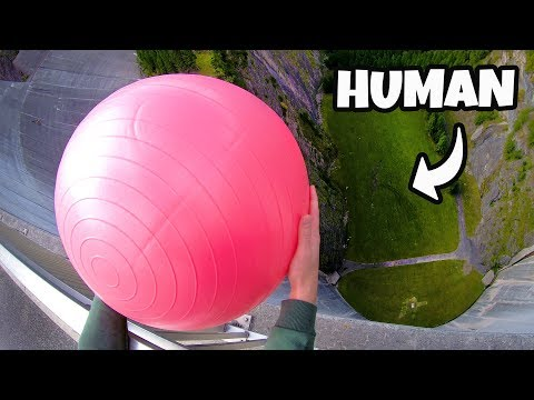 CATCHING EXERCISE BALLS from 165m Dam!