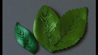 Folha de fita de cetim Tutorial por Flor do Jardim