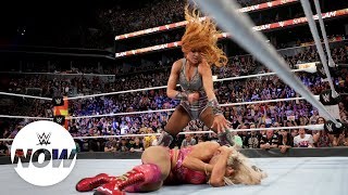 Becky Lynch attacks Charlotte Flair after The Queen's title win: WWE Now