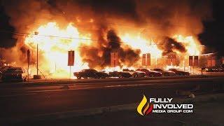 Ellenville,NY: Vintage Cars Destroyed in HBO Film Set Inferno 05-09-19