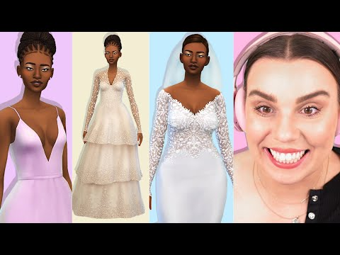 Weddings just got a whole lot better in The Sims 4... (CC wedding haul)