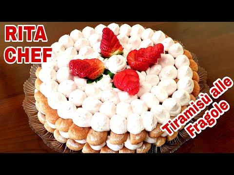 TIRAMISU' CAKE ALLE FRAGOLE di RITA CHEF.