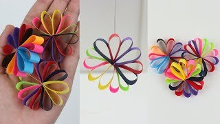 How to Make Hanging Paper Flowers Garland for Easy Party Decorations on Budget DIY - Ezzy Crafts !!!