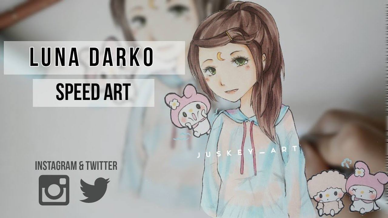 luna darko speed art speed drawing with copic marker youtube. Black Bedroom Furniture Sets. Home Design Ideas