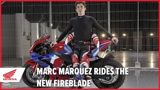Marc Márquez rides the new 2020 CBR1000RR-R Fireblade SP