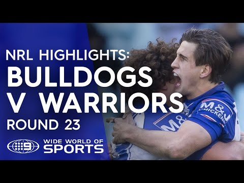 NRL Highlights: Canterbury Bulldogs v Warriors - Round 23