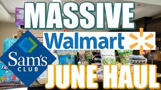 SAM'S CLUB & WALMART MASSIVE GROCERY HAUL!